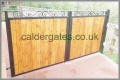 Sherwood Steel Framed Metal Driveway Gate With Wood Infill